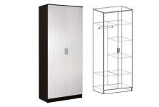 Шкаф 2х-створчатый комбинированный Светлана