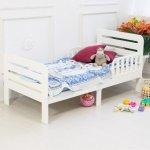 Кровать из массива бука, детская, белая. Феалта-baby Охта