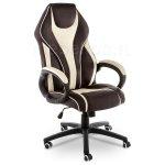Кресло компьютерное Danser черный бежевый, коричневый