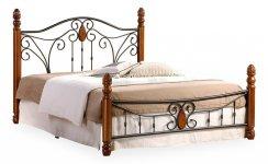 Кровать двуспальная AT-9003 коричневый, черный