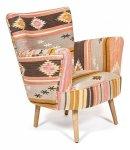 Кресло Secret De Maison Kilim дерево манго бежевый с цветным рисунком